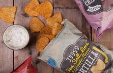 Sun-Drenched Snack Branding - This Tortilla Chip Branding for Tesco's is Refreshing and Bright