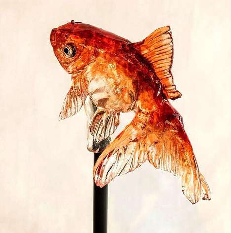 Realistic Wildlife Confections - Shinri Tezuka's Animal Lollipops are Inspired by Underwater Life