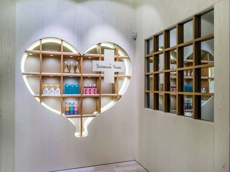 Sweetheart Pharmacy Interiors - This Madrid Pharmacy Features a Romantic Ode to Health