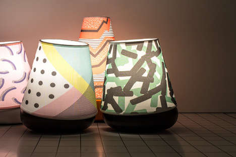 Playful Macaron Lamps - These Bright Geometric Lamps are Inspired by an Italian Design Idea