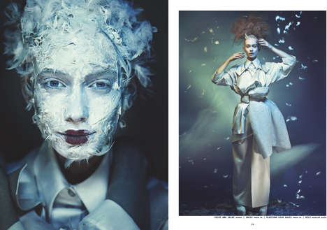 Cosmetic Japanese Photoshoots - The Fashionbook #2 Geiko Editorial Reproduces Asian Beauty Looks