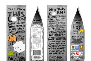 This Playful Popcorn Branding Will Appeal to Younger Family Members