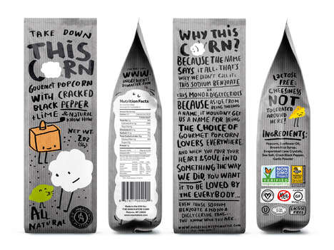 Animated Popcorn Packaging - This Playful Popcorn Branding Will Appeal to Younger Family Members