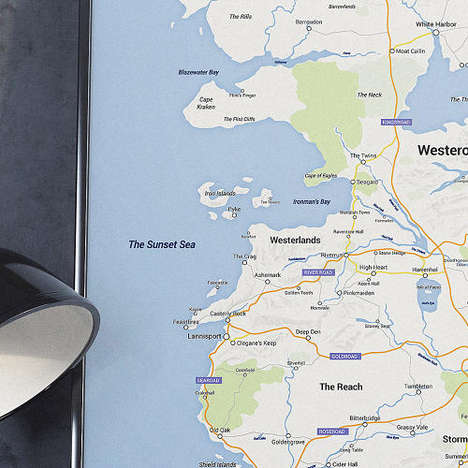 Modernized Fantasy Worlds - The Google Westeros Map Complements the Author's Rich Imagination