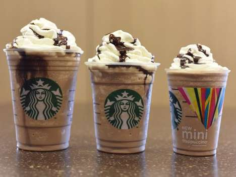 Modest Mini Frappuccinos - Starbucks Introduces a Smaller Size for Better Portion Control