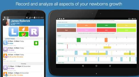 Breastfeeding Tracker Apps - The Feed Baby Android App Chronicles a Child's Development