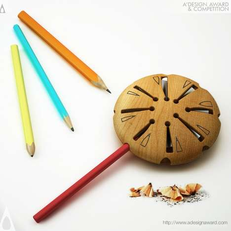 Lollipop Pencil Sharpeners - This Brightly Colored Arts and Crafts Accessory is Eco-Friendly
