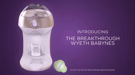 Infant Formula Machines - The Wyeth BabyNes Preps Infant Formula from Capsules