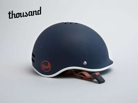 Casual Bicycle Helmets - Thousand by Gloria Hwang Focuses on Stylish Safety for Everyday Commuters
