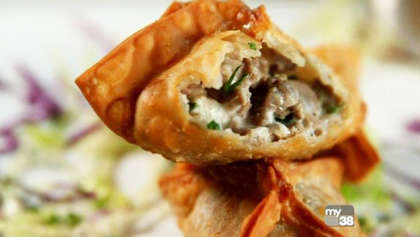 Steak-Stuffed Wontons - Tony C's Turns a Philly Cheese Steak Sandwich into a Bite-Sized Appetizer