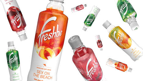 Cocktail-Inspired Sodas - The Freshbe Soft Drinks Target Millennials with Cocktail-Flavored Drinks