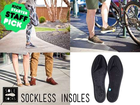 Sockless Insoles - Sole Socks 2.0 by Tanner & Taylor Dame Provides a Simple Alternative for Summer