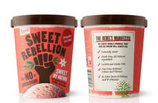 Defiant Ice Cream Branding - Sweet Rebellion's Ice Cream Joins the Battle for 'No Added Sugar'