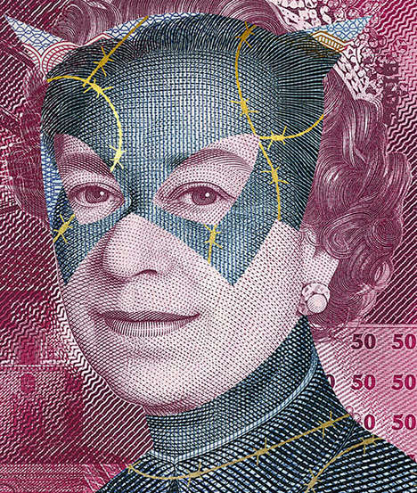 Comic Currency Art - Alessandro Rabatti's Banknote Art Boasts Superhero Imagery