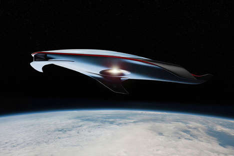 Luxury Car Spacecrafts - The Ferrari Spacecraft Concept Looks to the Future for Inspiration