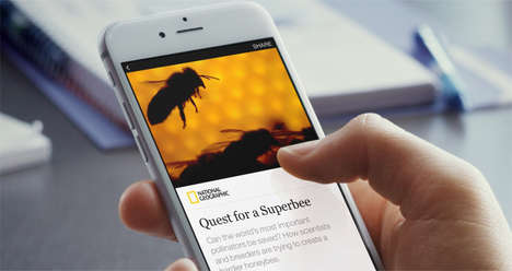 On-the-Spot Social Media Articles - Facebook Instant Articles Bring Stories to Life in New Ways
