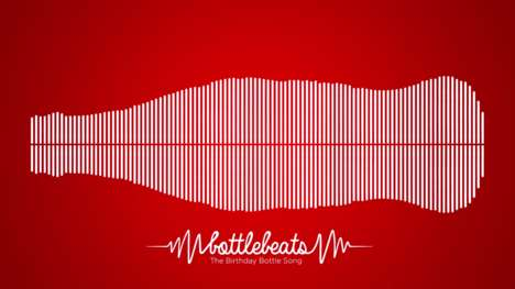 Visual Sound Wave Songs - 'Bottlebeats' was Created to Celebrate the Coke Bottle's 100th Birthday