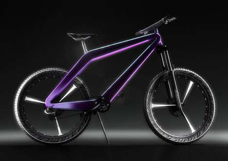 Lightweight Luxury Bikes - This Diamond Shaped Bicycle is a Fusion of Off-Road Riding & Urban Design