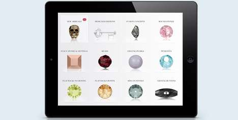 Diamond Catalog Apps - The Swarovski Crystal Collection App was Designed with Buyers in Mind