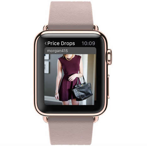 Fashion-Tracking Apps - The Poshmark App for the Apple Watch Helps Consumers Track Sales
