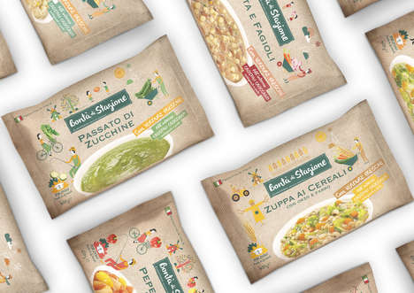 Homespun Soup Packaging - These Soup Packaging Designs Inspire Visions of Homecooking