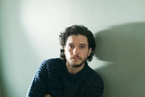 Understated Heartthrob Editorials - This Kit Harington Photoshoot Features Casual and Candid Imagery