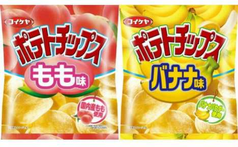 Fruit-Flavored Potato Chips - Japanese Company Koikeya Develops Fruity Chips for Breakfast