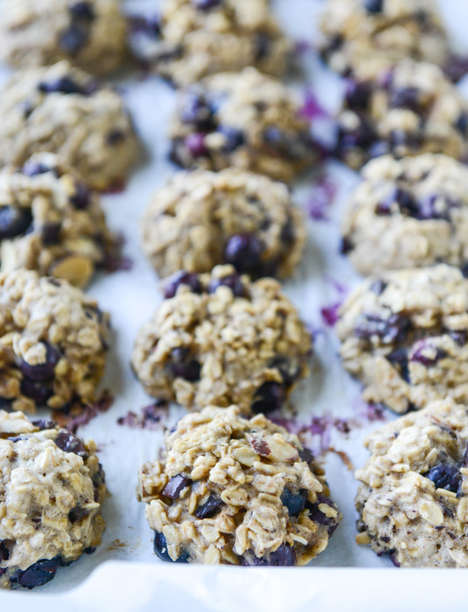 Blueberry Breakfast Cookies - These Oatmeal Baked Goods from How Sweet Is Is are Tasty Anytime