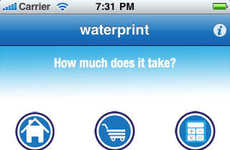 Water Efficiency Apps - Waterprint Calculates One's Ecological Footprint and Consumption Rates