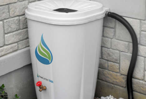 Drought-Combating Rain Barrels - The FreeGarden RAIN Bin Collects Water for Gardening