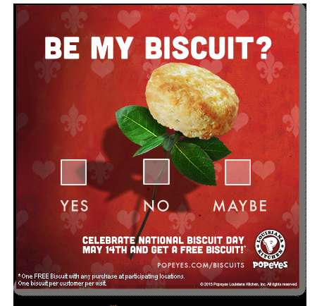 Signature Dish Digital Campaigns - These Popeyes E-Cards Celebrate the Brand's National Biscuit Day