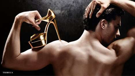 Seductive Shoe Marketing - This Brian Atwood Shoe Campaign Features Suggestive Imagery