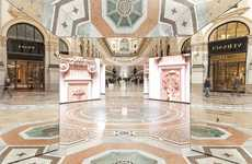 Opulent Fashion Installations - Prada's Kaleidoscope Art Exhibit References History and Heritage