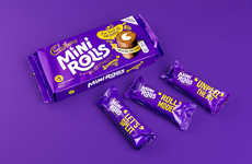 Bite-Sized Cake Rolls - Cadbury's Classic Cake Bars Are Rebranded as Fun Mini Rolls