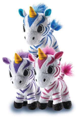 Mythical Plush Toys - The Unicorn and Zebra Hybrid Toys are Perfect for Young Boys and Girls
