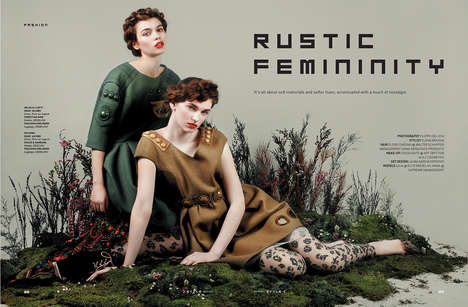 Wondrous Womanhood Editorials - The Del Vita Rustic Femininity Photoshoot Reinterprets Female Looks
