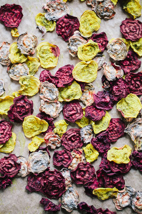 Baked Beet Chips - Gather and Dine's Oven-Baked Snack Recipe Delivers Crunch and Color