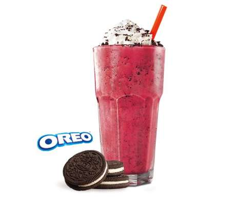 Hybrid Cookie-Cake Milkshakes - Burger King Has Added a Red Velvet Oreo Milkshake to Its Menu