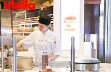 Nutty Pop-Up Kitchens - Longo's Grocery Store Pop-Up Takes the Form of a Tasty Nutella Creperie