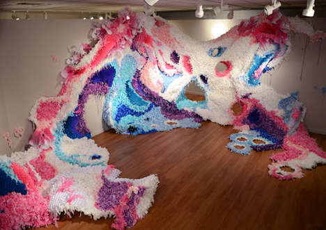 Cut Paper Installations - Crystal Wagner Creates Large-Scale Psychedelic Artwork