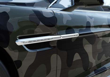 Luxurious Camouflage Cars - The Valentino x Ashton Martin Vanquish Volante is Covered in Camo Print