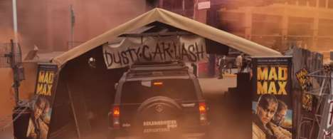 Reverse Car Washes - This Dirty Car Wash Coats Vehicles with Dust to Promote the Mad Max Movie