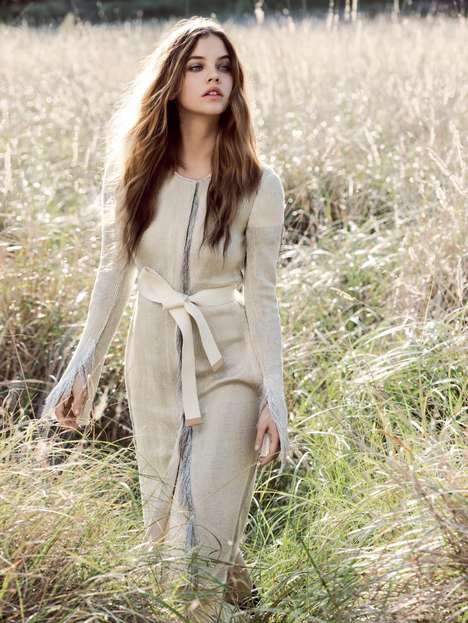 Embedded Environmental Editorials - The Vogue Australia Super Natural Photoshoot is Green-Themed