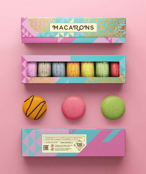 Pastel-Hued Pastry Rebrands - This Colorful Brand of Macarons Has a Whole New Look