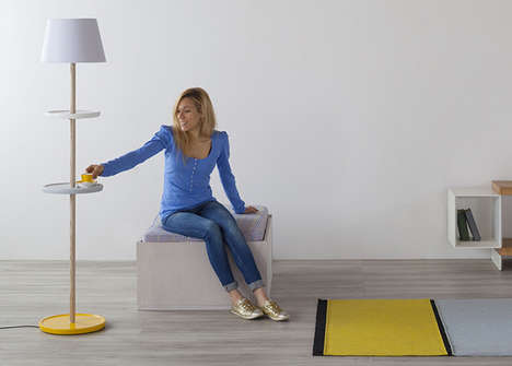 Sliding Saucer Lights - This Table Floor Lamp Has Adjustable Disks to Serve a Dual Function
