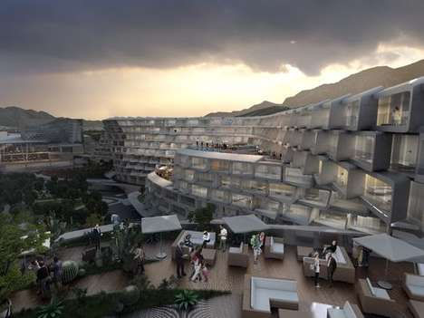Interlocking Lattice Apartments - This Mexican Apartment Complex Project Was Designed By Zaha Hadid