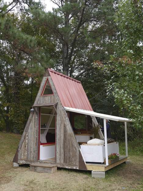 Inexpensive Customizable Cabins - This A-Frame Cabin Enables Consumers to Build It as They Please