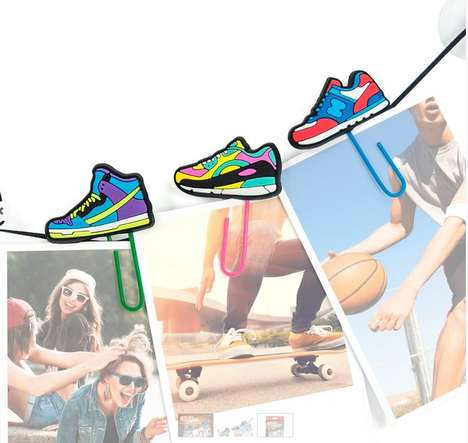 Shoe-Shaped Office Supplies - These Sneaker Paper Clips are a Fun Stationary Item for Ogranization
