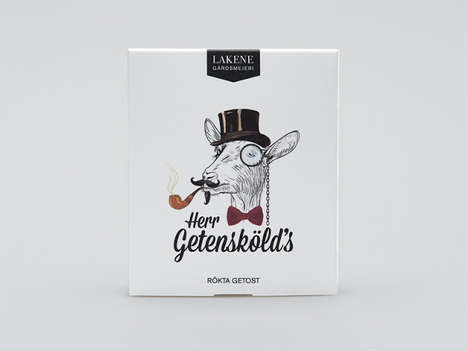 Doodled Bovine Branding - This Drawn Dairy Packaging Has a Humorous and Artisanal Character