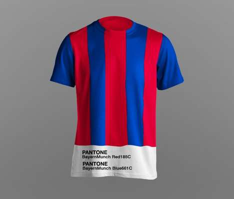 Color-Coded Soccer Jerseys - These Pantone Football Club Uniforms Celebrate Iconic Shades